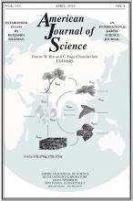 American Journal of Science: 313 (4)