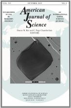 American Journal of Science: 313 (8)