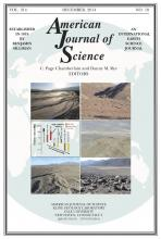 American Journal of Science: 314 (10)