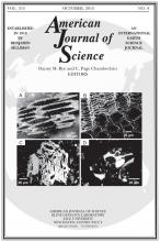 American Journal of Science: 315 (8)