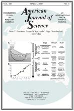 American Journal of Science: 320 (3)