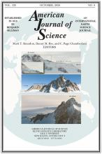 American Journal of Science: 320 (8)
